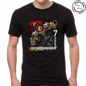 Five Finger Death Punch and Justice For None Black T-Shirt Size S M L XL 2XL 3XL