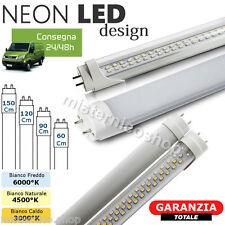 NEON TUBO LED SMD 60-90-120-150 CM 6500K 3500K LUCE FREDDA/CALDA TRASPARENTE T8