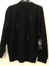 Protege Collection X Large Sweater Black Diamond Patch Wool Blend Lightweight
