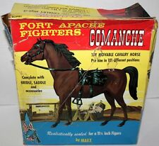 MARX FORT APACHE FIGHTERS BROWN COMANCH CAVALRY HORSE W/BOX & ACCESSSORIES