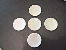 Lot 5 vtg glass plates possible children's dish set Akro Agate Crow Hallmark