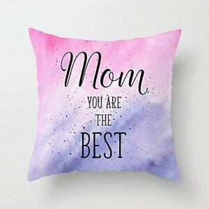 """Cushion Cover, """"Mom You Are The Best"""" Square Cover For Throw Pillow Case 