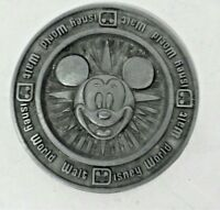 Vintage Mickey Mouse Walt Disney World Pewter Metal Coaster Disneyland