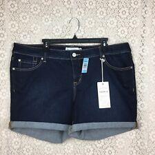 NWT Torrid Plus Size 20 Denim Short Shorts Dark Wash 5 inch Sanded Rinse