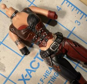 "Marvel Legends Custom Fodder 6"" Female Torso Harley Quinn Red Black Boots"