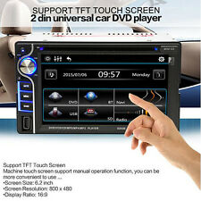"2 Din In-dash 6.2"" Bluetooth Car Stereo DVD/CD MP3 Player FM Radio Touch Screen"