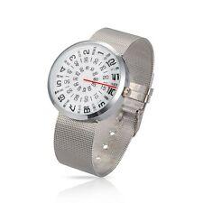 Fashion Men Casual Mesh Belt Mechanical Stainless Steel WristWatch WACH-N003-09B