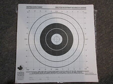 Sighting-in Rifle Targets Black on White paper Pack of 100