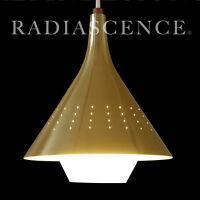 50s NOS JOHN VIRDEN DANISH ATOMIC SPACE AGE MODERN BLOWN GLASS HANGING SWAG LAMP