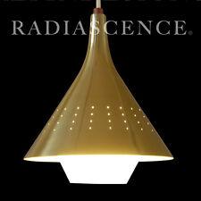 '59 NOS JOHN VIRDEN DANISH ATOMIC SPACE AGE MODERN BLOWN GLASS HANGING SWAG LAMP