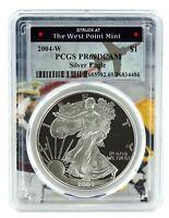 2004 W Silver Eagle Proof  PCGS PR69 DCAM  - West Point Frame