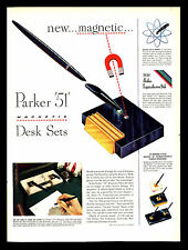 ORIGINAL 1947 PARKER 51 INK PEN & PENCIL SETS VINTAGE ADVERTISING ART PRINT AD
