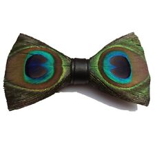 ed247686c481 Novelty Bow Tie Peacock Feather Neck Ties