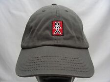 STICK FIGURE LOGO - GRAY - ADJUSTABLE STRAPBACK BALL CAP HAT!