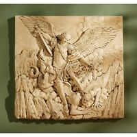 St. Michael The Archangel Sculptural Design Toscano High Relief Wall Frieze