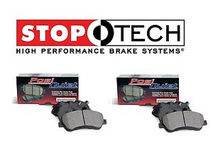 For Mazda RX8 Front Rear Left & Right StopTech Posi Quiet Ceramic Brake Pads Set