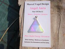 Vogel in Angel-Opal Aura Quartz Pendant - 99%Clarity*Angelic Energy*