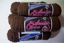 Annies Choice yarn acrylic worsted wt 4 ply 3 oz sk #7916 brown lot/5
