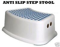 PLASTIC STEP STOOL NON ANTI SLIP TOILET POTTY TRAINING KIDS CHILDREN KITCHEN NEW