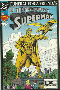 The Adventures Of Superman 499 Funeral - DC Logo Variant - Rare 3rd Print