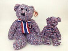 2002 Ty Beanie Buddies & Babies LOT of USA Buddy & Baby Bears Plush Stuffed Toys