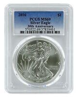 2016 1oz American Silver Eagle PCGS MS69 - Blue Label
