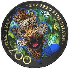 Germania 2019 5 Mark The Oak Leaf - Zoo Series - Jaguar - 1 Oz Silver Coin