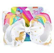 "LATEST! Jojo Siwa Bow Large 8"" Bow Party Xmas Gift 🦄🌈 Unicorn & Rainbow"