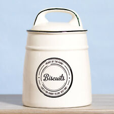 White Large Ceramic 2 Litre Biscuit Jar Kitchen Cookie Storage Pot Container
