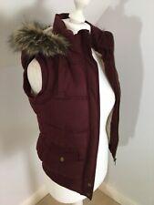 NEW LOOK Hudson & Rose Purple Fleece Lined Gilet Bodywarmer Size 10