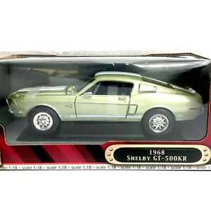 1/18 Scale 1968 Shelby Ford Mustang GT-500KR Diecast Metal Collection Classic