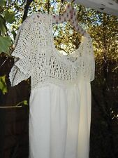 VINTAGE 30's/40's EUROPEAN GOWN~French CROCHET Cotton Country Side Wedding Dress