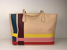 Tory Burch Perry Variegated-Stripe Blake Tote, Multicolor