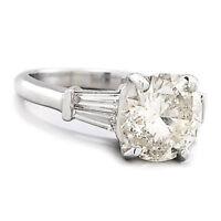 Simon G Certified Round Diamond Engagement Ring 18K White Gold 2.32ctw