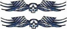 """Garage Trailer Boat Car Truck Wall Skull Racing Graphics Decals Stickers 2-70"""""""