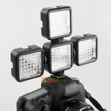 65° Video Light 36 LED Rechargeable Battery DV For Canon Nikon Camera Camcorder