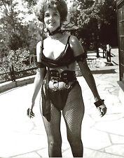 Lynn Cartwright Busty Leather Bikini fishnet stockings leggy 8x10 photo S2849
