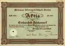 Minimax Feuerlöscher 1938 Neuruppin Stuttgart Hamburg 100 RM Bad Urach Oldesloe