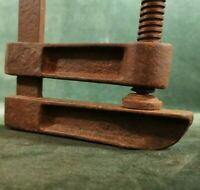 Antique wrought iron carpenter vise blacksmith temper very thought beautifull