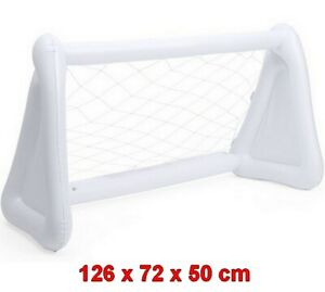 Portería Hinchable inflable de PVC 126 x 72 x 50 cm, juguete, niños, fúbtol