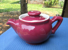 Hall China DOHRCO TEAPOT 2-CUP.....MAROON ...LOCKING LID....MINT CONDITION!