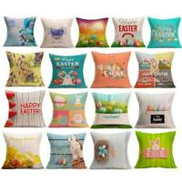 Happy Easter Sofa Bed Home Decoration Festival Thrown Pillow Case Cushion Cover