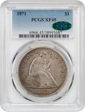 1871 $1 PCGS/CAC XF45 - Liberty Seated Dollar