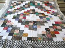 "Machine sewing  patchwork  handmade size 62""x 80"" quilt top"
