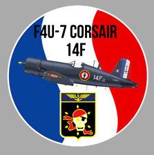 BLASON AERONAVALE FLOTTILLE 14 F 14F F4U CORSAIR MARINE MARITIME STICKER AV117