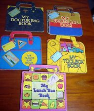 MY DOCTOR LUNCH FLIGHT SPORTS TOOLBOX BAG  Golden Lot of 5 Carry Me Shape Book