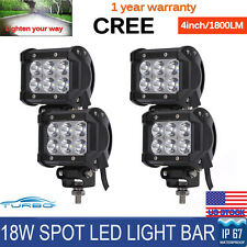 4x 4inch 18W Cree Led Work Lights Pods Spot Offroad Lamp SUV ATV UTE JEEP TRUCK