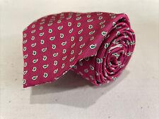 NEW NWT Polo Ralph Lauren USA Men's Pink Paisley Silk Neck Tie $85