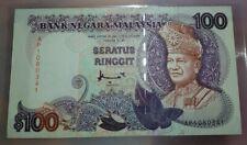 1995 MALAYSIA RM100 DON H&S LAST PREFIX AP Original Note [P-32C] Extra Fine