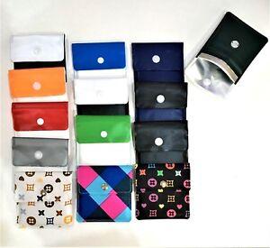 3 X Pocket Ashtray Portable Travel Ashtray Foil Lining Handy RANDOM DESIGNS
